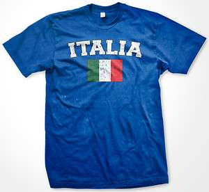 Italia Pride Italy Italian Flag Soccer Football Country Mens T shirt