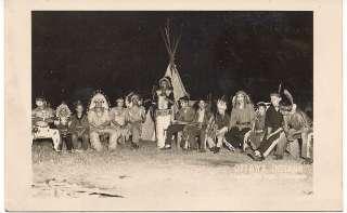 USED 1949 RPPC POSTCARD OTTAWA INDIANS HARBOR SPRINGS MICHIGAN