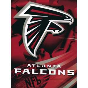 NFL Football Atlanta Falcons Royal Plush Raschel Throw Blanket Twin