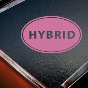 Hybrid Euro Ovel Pink Decal Car Truck Window Pink Sticker