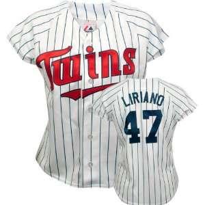 Francisco Liriano Majestic Replica Minnesota Twins Womens Jersey