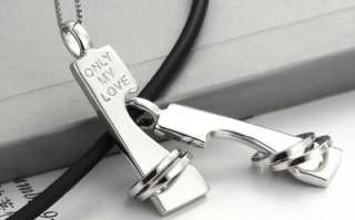 Silver I Love You Only My Love Rings Pendants Wedding Couple Necklaces