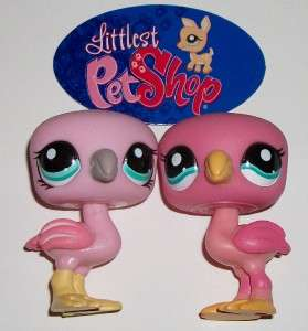 PINK FLAMINGO BIRD LOT~#1023 ی HOT PINK~Littlest Pet Shop Z57