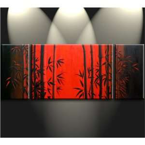 Painting Chinese Feng Shui Bamboo Oil Painting 738: Home & Kitchen