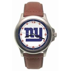 New York Giants Mens NFL Rookie Watch (Leather Band