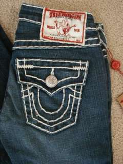 NWT True Religion womens Billy super T jeans in Del Mar Medium