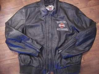 Davidson mens large leather riding jacket coat eagle limited edition