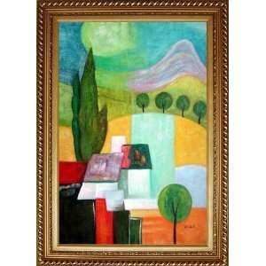 Modern Village Landscape Painting Oil Painting, with