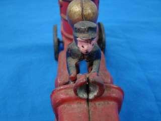 Vintage Original Cast Iron Fire Truck Pumper Engine Collectible Toy