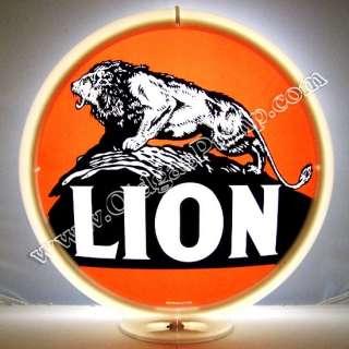LION GASOLINE & OIL GAS PUMP GLOBE FREE S&H