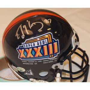 Ed McCaffrey SB XXXIII Hand Signed Mini Helmet Everything