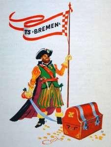 HAPAG LLOYD T.S. BREMEN OCEAN LINE SHIP BROCHURE CARIBBEAN CRUISE 1971