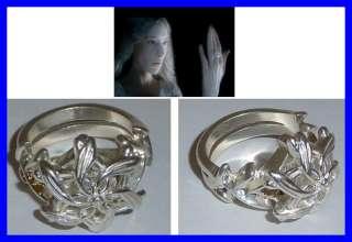 LOTR Lord Rings GALADRIEL RING NENYA OFFICIAL Silver Swarowski