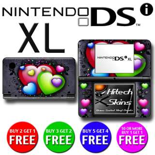 USA MADE Skin (Graphic Decal) to fit   Nintendo DSi XL   HEARTS