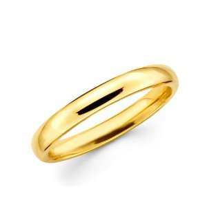 14k Yellow Gold Standard Fit wedding Band Ring Plain style