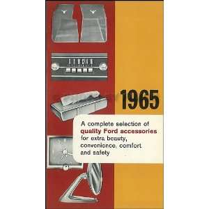 1965 Ford, Meteor & Mercury CANADIAN Accessories Catalog