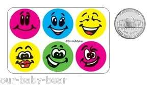 60 SMILEY FACE Dot Sticker Party Bag Favor Potty Training Reward