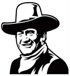 John Wayne #1 sticker VINYL DECAL The Duke