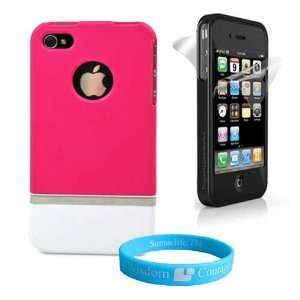 2 Piece * Hot Pink * Fuze protective carrying Case + Clear
