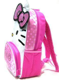 Sanrio White Face EARS HELLO KITTY Bag Backpack BookBag Glitter Pink