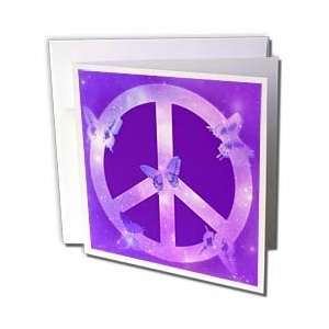 Patricia Sanders Creations   Universe Peace Sign Purple