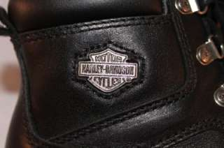 HARLEY DAVIDSON womens BLACK leather RIDING BOOTS express lane 6M