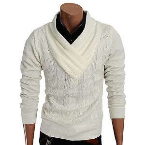 Mens Casual Turtleneck Knit Sweater Tshirts IVORY(KS01)