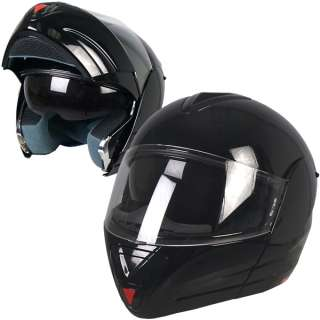 Gloss Black Convertible Full Face DOT Motorcycle Helmet 4 Sizes