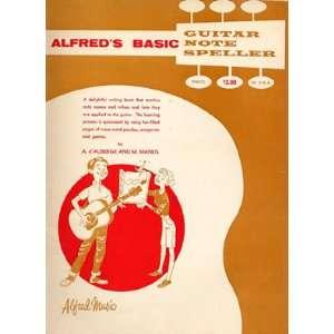 Alfreds Basic Guitar Note Speller A. dAuberge & M