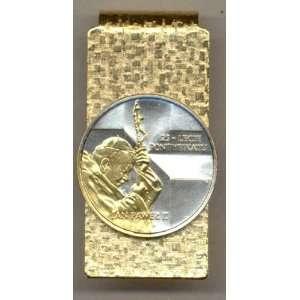 Silver Polish Pope John Paul II, Coin   Money clips