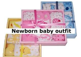 NEW Newborn Baby Infant Boy Girl Clothes Outfit Shower party toys gift