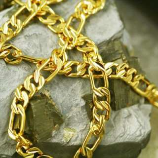 Special Mens 24K Yellow Gold Filled GF Chain Necklace