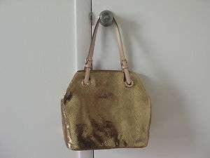 Michael Kors Items Metallic Gold Leather Grab Bag Tote Purse