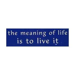 Infamous Network   Meaning Of Life Is To Live It   Mini Stickers 1.5