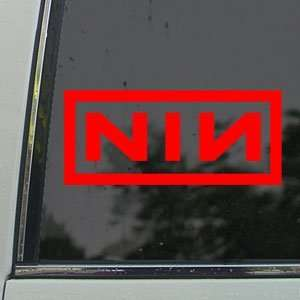 NINE INCH NAILS Red Decal NIN ROCK BAND Window Red Sicker