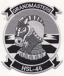 US Navy HSL 46 Grandmaster Helicopter Squadron Patch
