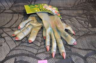 NEW Grey Green Blue color Latex Monster Hands Gloves