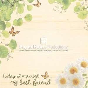 Scrapbook Paper 12 X 12 My Best Friend, Wedding 2 shs