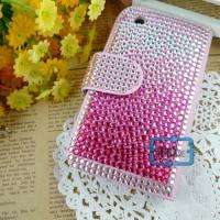 Rhinestone Bling Wallet Case Cover F iPhone 3 3G/S#A527