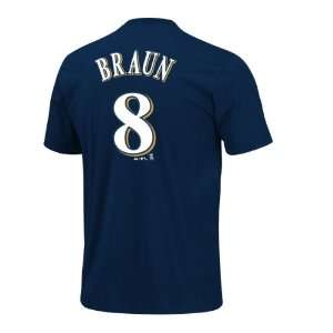 Milwaukee Brewers Ryan Braun MLB Player Name & Number T Shirt