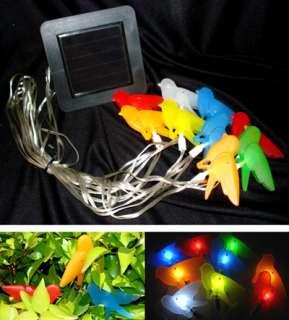 Garden Sunlight Color Birds String Solar Light CD1003 New