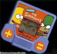 TIGER ELECTRONIC HANDHELDS THE SIMPSON TALKING LCD GAME