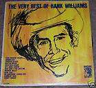 LP 1950s VERY BEST OF HANK WILLIAMS MGM country music