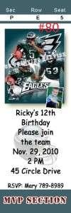 Philadelphia Eagles Birthday Invitation Favor Thank You Cards
