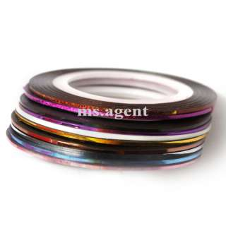 10x Striping Tape Line Nail Art Sticker for uv acrylic