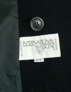 INTERNATIONAL SCENE Womens Ladies WOOL BLEND Long Coat size 15 / 16