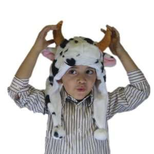 Plush Cow Brand New Animal Hat High Quality Polyester