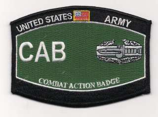 US Army CAB Combat Action Badge MOS Military Patch /