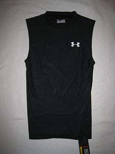 Under Armour Mens Heat Gear T Shirt L XL XXL XXXL Sleeveless Black