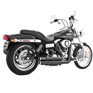 Independence Shorty Black Exhaust for 1991 2005 Harley Davidson Dyna